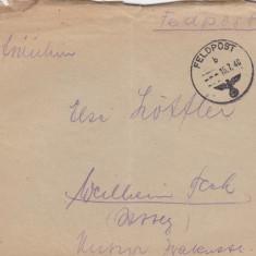 PLICURI GERMANIA, CENZURA MILITARA, CNZ 10 redus - Plic Papetarie