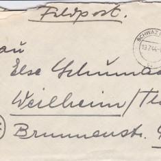 PLICURI CENZURATE MILITAR GERMANIA CNZ 19 - Plic Papetarie