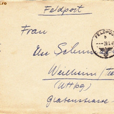 PLICURI CENZURATE MILITAR GERMANIA CNZ 26 - Plic Papetarie
