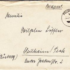 PLICURI CENZURATE MILITAR GERMANIA CNZ 28 - Plic Papetarie