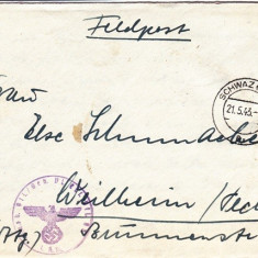 PLICURI CENZURATE MILITAR GERMANIA CNZ 46 - Plic Papetarie