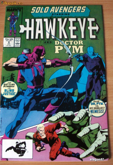 Solo Avengers starring Hawkeye and Doctor Pym #8 . Marvel Comics foto mare