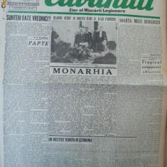 Cuvantul, ziar al miscarii legionare, 12 ianuarie 1941 - Carte Editie princeps