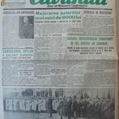 Cuvantul, ziar al miscarii legionare, 8 ianuarie 1941 - Carte Editie princeps