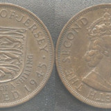 Jersey, Anglia 1/12 SHILLING 1945, patina superba