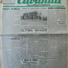 Cuvantul, ziar al miscarii legionare, 20 ianuarie 1941 - Carte Editie princeps