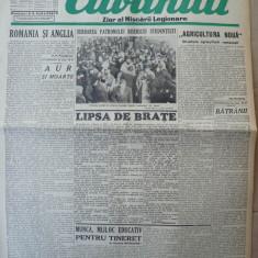 Cuvantul, ziar al miscarii legionare, 19 ianuarie 1941 - Carte Editie princeps