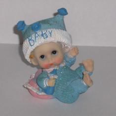 Figurina pentru tort botez - bleu - lichidare stoc/ pret redus