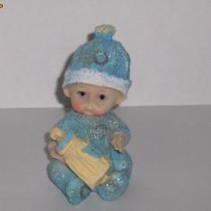 Figurina pentru tort botez bleu - lichidare stoc/ pret redus