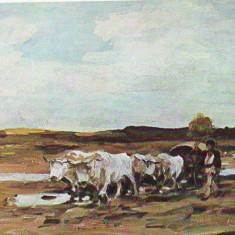 PN 85 N.GRIGORESCU -Car cu boi 1838-1907 necirculata