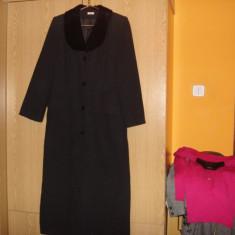 Palton stofa negru, REDUCERE - Palton dama, Marime: 40, Lana