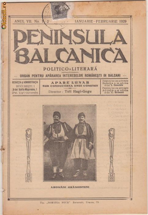 26 nr. revista Peninsula Balcanica,aromanii (1924-1929)