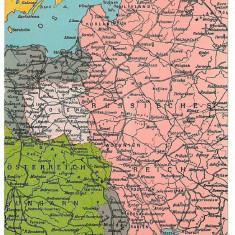 566 - HARTA - RO -T. Severin, Alexandria, Pitesti, Bucuresti, Ploiesti, Constanta - old PC - unused - Harta Romaniei