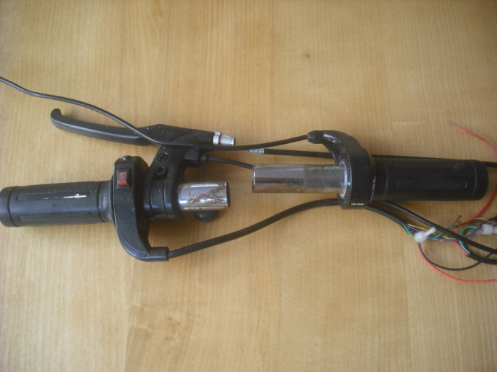 Vand maneta acceleratie scuter electric + maneta frana foto mare