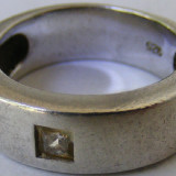 Inel vechi din argint cu piatra (52) - de colectie - Inel argint