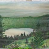 Lacul Sf. Ana 1943 - ulei pe panza - Pictor roman, Peisaje