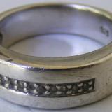 Inel vechi din argint cu 9 pietre - de colectie - Inel argint