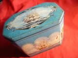 Cutie metalica veche pt. biscuiti Readings & London -Anglia