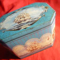 Cutie metalica veche pt. biscuiti Readings & London -Anglia - Cutie Reclama
