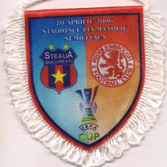 Fanion-STEAUA BUCURESTI-F.C. MIDDLESBROUGH semifinala cupei UEFA 2006 - Fanion fotbal