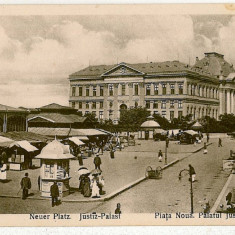 1213 - Dolj, CRAIOVA, Market, Justice Palace - old postcard - unused - Carte Postala Oltenia 1904-1918, Necirculata, Printata