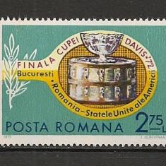 Romania.1972 Finala Cupei Davis FC.90 - Timbre Romania