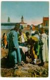962 - OLTENI, Vanzatori de PRAZ si alte legume - old postcard - used - 1927