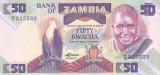 Bancnota Zambia 50 Kwacha 1988 - P28 UNC