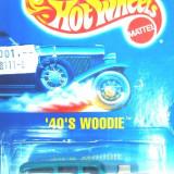 HOT WHEELS --FORD WOODIE 1940 ++1799 DE LICITATII !! - Macheta auto Hot Wheels, 1:64