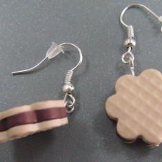 Pandantiv/martisor/Cercei biscuiti din fimo - Cercei fimo