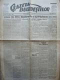 Gazeta Bucurestilor , 4 martie 1918 , ziar tiparit sub ocupatia  Capitalei