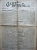 Gazeta Bucurestilor , 1 martie 1918 , ziar tiparit sub ocupatia Capitalei