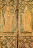 Carte postala ilustrata personalitati, domnitori romani - Stefan cel Mare si doamna Maria Voichita