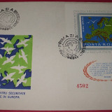ROMANIA 1975 -  FDC C.S.C.E. HELSINKI  - COLITA NEDANTELATA