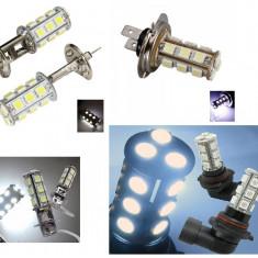 Bec LED 18 SMD H1, H3, H8, H11, T20, P21W, 1156, 1157, pentru pozitie, semnalizare, marsarier, frana - Led auto, Universal