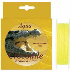 Fir Textil Aqua Crocodile fluo 100 metri pentru spinning - Fir Pescuit