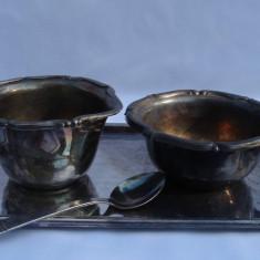 SET CAFEA ZAHARNITA interbelice / argintat