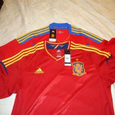Tricouri Nationala Spaniei - Tricou echipa fotbal, Marime: L, Culoare: Albastru, Rosu, Spania, Maneca scurta