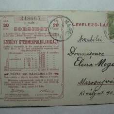 1- TIMISOARA 1906 - CARTE POSTALA DE PUBLICITATE FILANTROPICA - POLICLINICA DE COPII