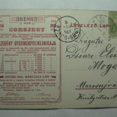 2 -TIMISOARA 1906 - CARTE POSTALA PENTRU PUBLICITATE FILANTROPICA - POLICLINICA PENTRU COPII
