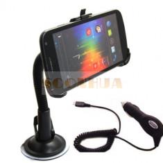 Suport auto + Incarcator pt Samsung Galaxy Nexus Prime i9250 holder Car Charger + folie protectie ecran