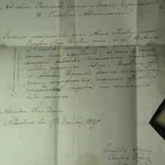 3 - CORESPONDENTA OFICIALA BISERICEASCA IN LIMBA LATINA - TRANSILVANIA 1857 - HARTIE FILIGRAM - SIGILIU CEARA ROSIE - STAMPILE TOVIS - KARLSBURG