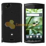 Husa protectie mesh neagra + folie ecran  Sony Ericsson SE Xperia Arc s X12 + expediere gratuita cu Posta Romana, Plastic, Carcasa