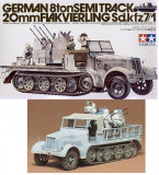 + Macheta Tamiya 35050 1:35 - Sd.kfz 8 ton 7/1 w flak and crew +