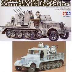 + Macheta Tamiya 35050 1:35 - Sd.kfz 8 ton 7/1 w flak and crew + - Macheta auto