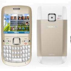 Vand/Schimb Nokia C3 White-Gold - Telefon mobil Nokia C3