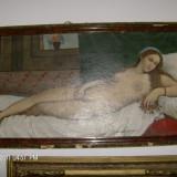 TABLOU NUD SEMNAT reducere - Pictor roman, Ulei, Impresionism