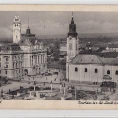 B71450 Nagyarad Panorama es a szt laszlo Templom Oradea - Carte Postala Crisana dupa 1918