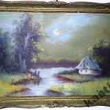 TABLOU SCOALA GERMANA reducere - Pictor strain, Peisaje, Ulei, Impresionism