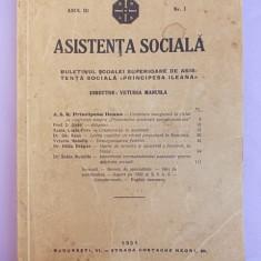BULETNULSCOALEI SUPERIOARE DE ASISTENTA SOCIALA ''PRINCIPESA ILEANA'',ANUL III,NR.1,1931